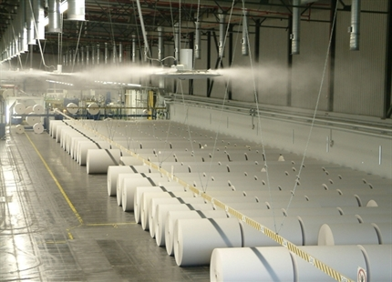 Air humidification in the paper production and processing industries